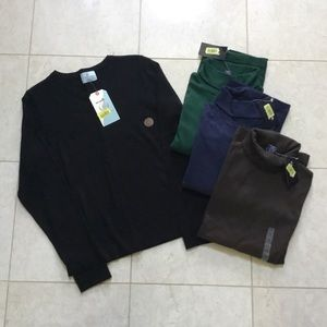 NWT CLASS CLUB black Sweater & 3 turtlenecks 10/12